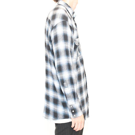 Ombre Check Western Shirt