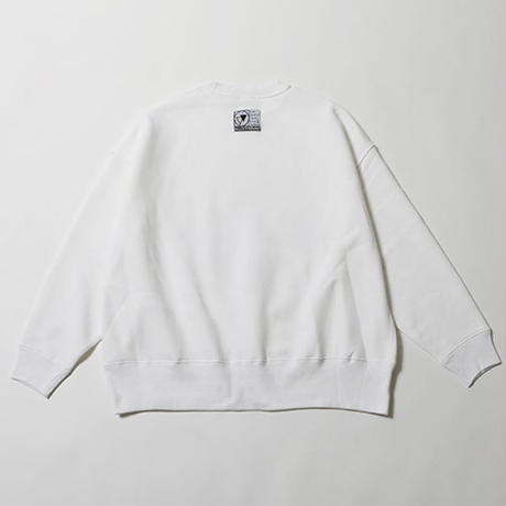"SILLENT FROM ME ""クルースウェット ""CROSS -Loose Crew Sweat-"" / WHITE"