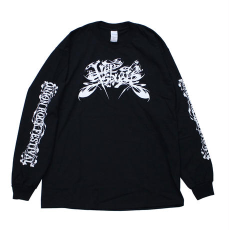 "ONION ROCK FESTIVAL × STREET ARTS ""HOTSQUALL"" LOGO LONGSLEEVE T-SHIRT / BLACK"