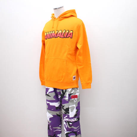 "ANIMALIA パーカ ""P/O HOODIE : EAGLE"" / ORANGE"