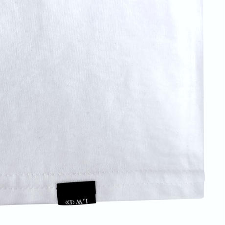 "LILWHITE(dot) Tシャツ ""WORLD"" TEE / WHITE"