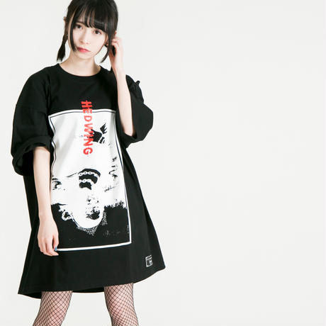 "HEDWiNG Tシャツ ""Crazy-Monna-Crazy T-shirt"" / BLACK"