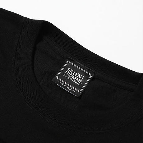 "【SILLENT FROM ME】Tシャツ ""CROSS"" / BLACK-BLACK"