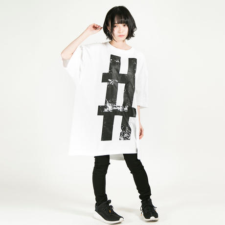 """HEDWiNG Tシャツ Big Hashtag """"#"""" T-shirt / WHITE"""