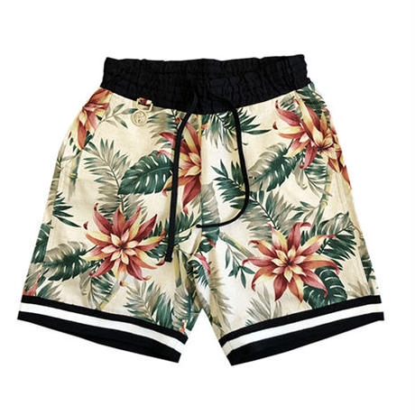 FLORAL SHORTS / WHITE