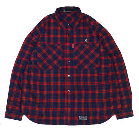 S-BONE BIG NEL SHIRTS / RED