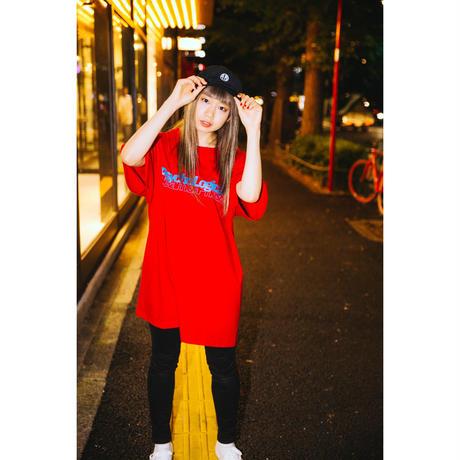 "【PLMP】Tシャツ ""PLMP CARD TEE"" / RED"