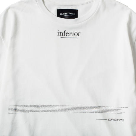 -INFERIOR- BIG Tee / WHITE