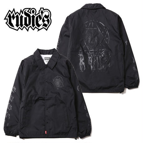 HEXAGRAM VICE COACH JACKET / BLACK-CLEAR