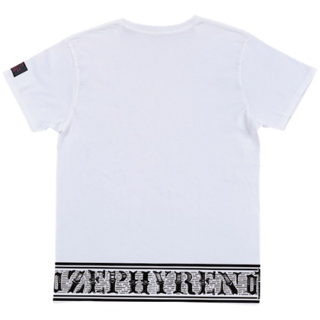 S/S TEE -Over the line- / WHITE