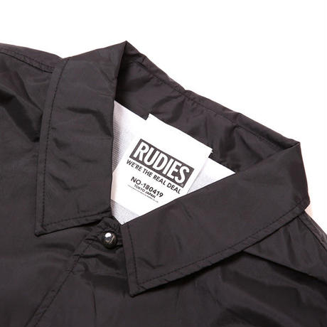 "RUDIE'S コーチジャケット ""DRAWING COACH JKT"" / BLACK"