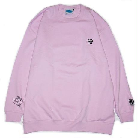 SLEEPING TABLET クルースウェット SLEEPY [ CREW SWEAT ] / PINK