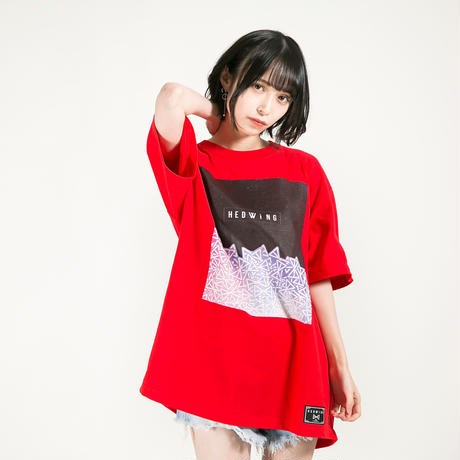 "HEDWiNG Tシャツ ""Stardust T-shirt"" / RED"