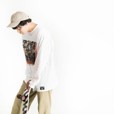 "【HEDWiNG】ロンT  ""Slidebar Longsleeve T-shirt""  / WHITE"