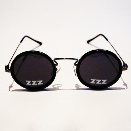 SLEEPING TABLET サングラス ZZZ [ OVAL SUNGLASS ] / BLACK