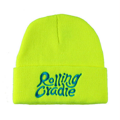 "【ROLLING CRADLE】ニットキャップ ""LOGO KNIT CAP / NEON-YELLOW"
