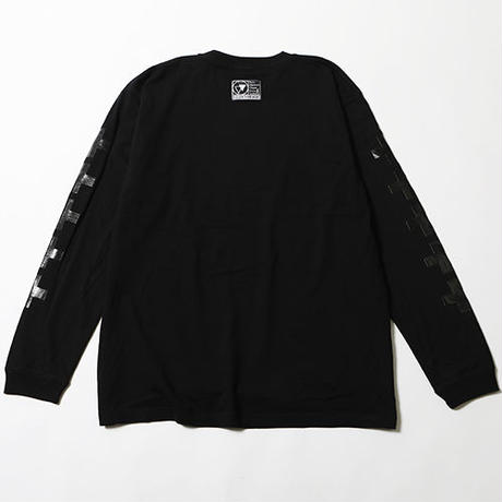 "【SILLENT FROM ME】ロンT ""KNOWN -Long Sleeve-"" / BLACK-BLACK"
