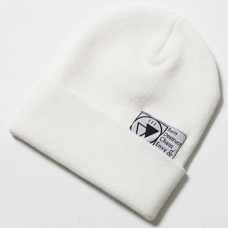 "【SILLENT FROM ME】ビーニー ""SIGN -Beanie-"" / WHITE"