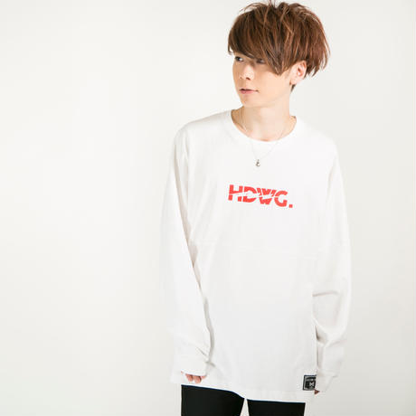 "HEDWiNG ロンT ""Kaminari"" Long Sleeve T-shirt / WHITE"