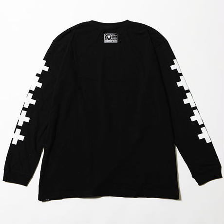 "【SILLENT FROM ME】ロンT ""KNOWN -Long Sleeve-"" / BLACK-WHITE"