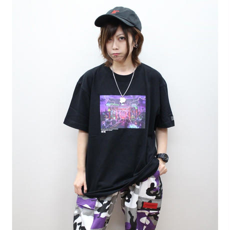 "ROLLING CRADLE Tシャツ ""RCx東京幻想 -KAMINARIMON GENSO-"" / Black"