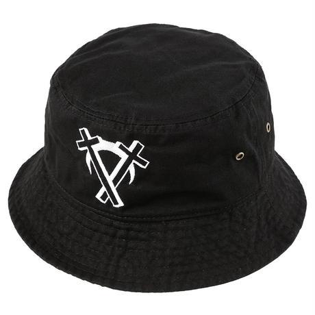 """Intarsect"" Bucket Hat / BLACK"