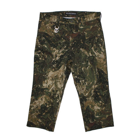 ROLLING CRADLE クロップドパンツ MARBLE WIDE CROPPED PANTS / CAMO