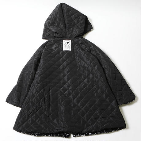 "【SILLENT FROM ME】リバーシブルガウン ""IMITATE -Reversible Fur Gown-"" / LEOPARD"