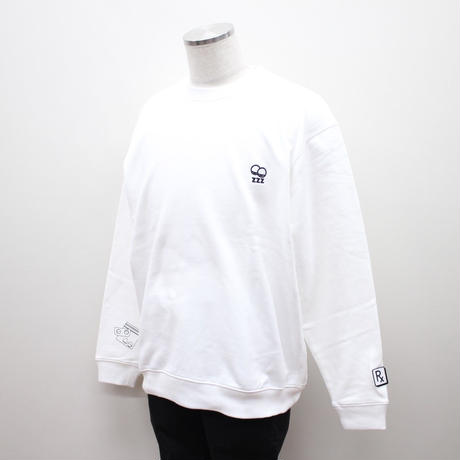 SLEEPING TABLET クルースウェット SLEEPY [ CREW SWEAT ] / WHITE