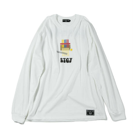 "【HEDWiNG】ロンT ""NAGAHAMA(世田谷店)×HEDWiNG Long sleeve T-shirt"" / WHITE"