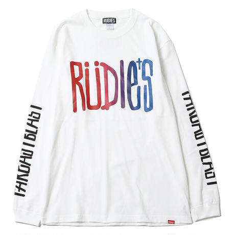 "【RUDIE'S】ロンT ""DRAWING LS-T"" / WHITE"
