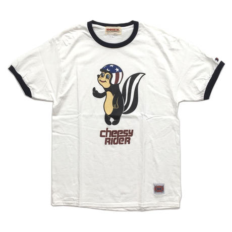CHEESY RIDER (Champion Body Big silhouette) / WHITE