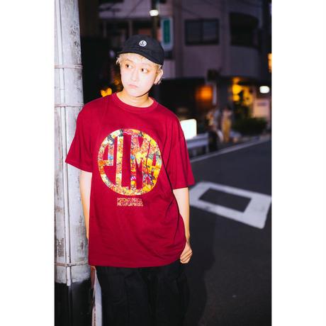 """【PLMP】Tシャツ """"PLMP FLOWER TEE"""" / BURGUNDY"""