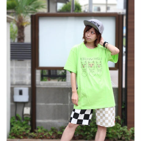 "ROLLING CRADLE Tシャツ ""MIGOS CAT TEE"" / Limegreen"