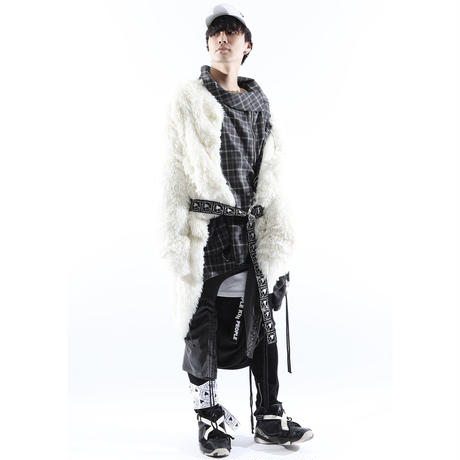 "【SILLENT FROM ME】カーディガン ""COCOON -Shaggy Knit Cardigan-"" / WHITE"