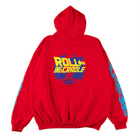 "【ROLLING CRADLE】パーカ ""TIME TRAVEL HOODIE"" / RED"