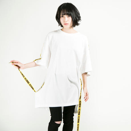 HEDWiNG Tシャツ Warning Tape T-shirt / WHITE