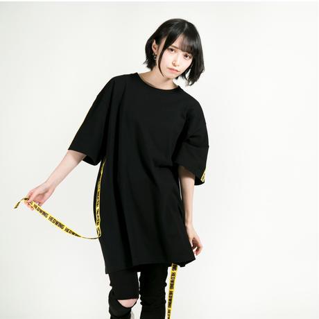 HEDWiNG Tシャツ Warning Tape T-shirt / BLACK