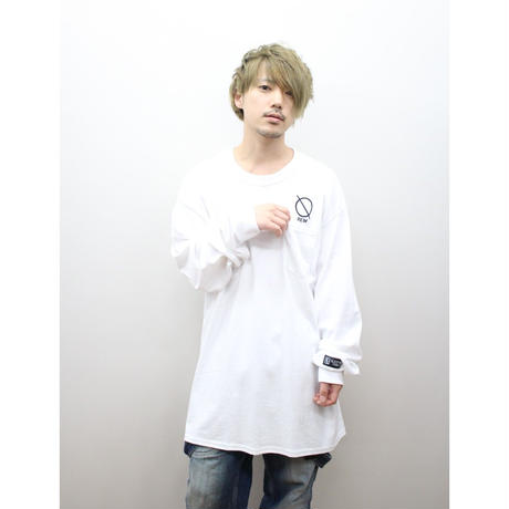 SLEEPING TABLET ロンT REM [ LONG SLEEVE W/POCKET ] / WHITE