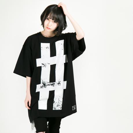 "HEDWiNG Tシャツ Big Hashtag ""#"" T-shirt / BLACK"