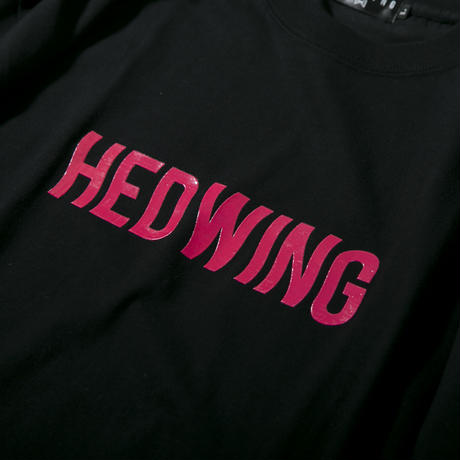 "HEDWiNG Tシャツ ""Slimy Logo T-shirt"" / BLACK"