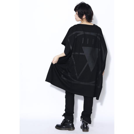 "SILLENT FROM ME ノースリーヴカットソー ""CRYPTIC -Square Sleeveless-"" / BLACK-BLACK"