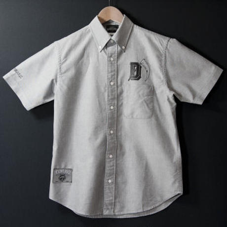 """initial"" Oxford S/S SHIRT"