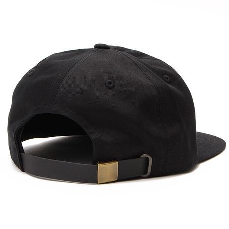 Script Strapback Cap (Black) 刺繍 (SILVER GREY)