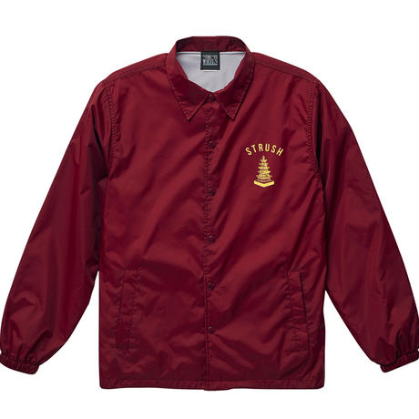 Temple of The Speed Coach Jacket (Burgundy) Art by 2YANG