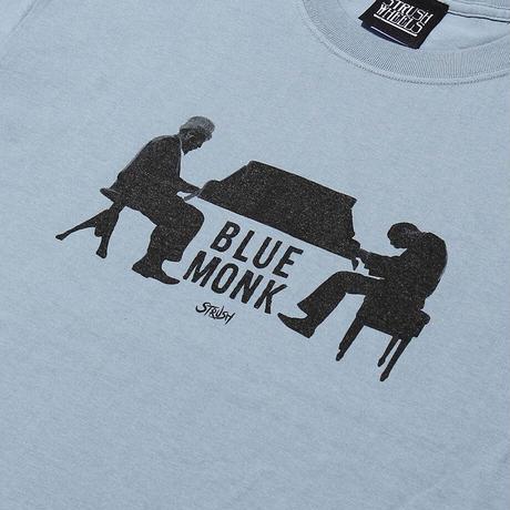 Blue Monk Tee Shirts (Acid Blue) Art by Guru Kato
