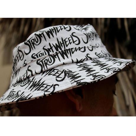 Strush x Delta Hand Made Bucket Hat (White)