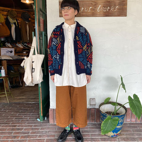 "【TIGREBROCANTE】 ""バイマイニットシャツカーディガン"""