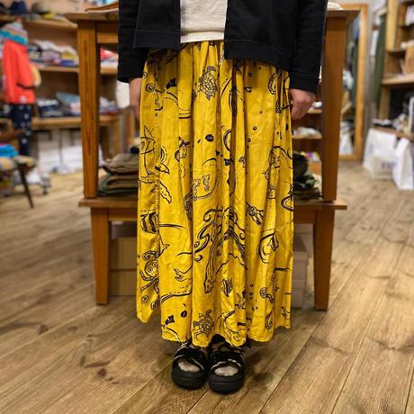 【TIGREBROCANTE】 ロングギャザースカート