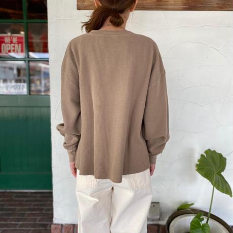 """【D.M.G】  """"ワッフルワイド長袖Tシャツ"""""""